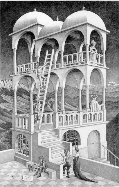 Figure 2. Belvedere, by M. C. Escher